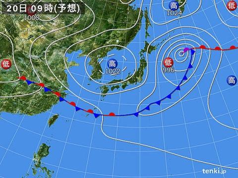 20日天気図