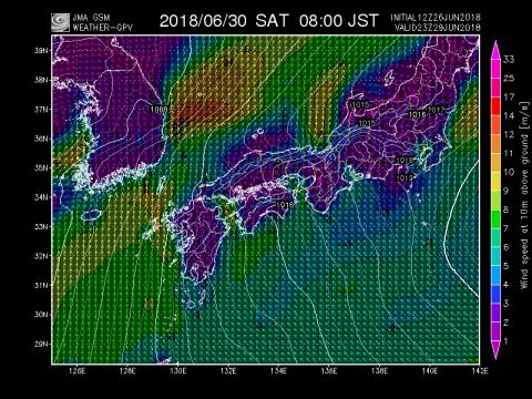 30日風予報