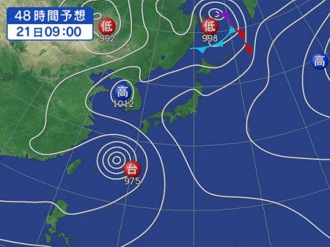 21日天気図