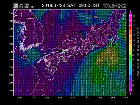 28日風予測