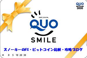 QUOカード3000円分改