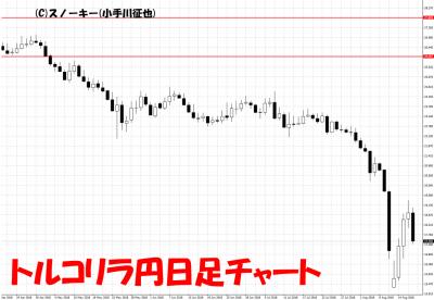 20180817トルコリラ円日足チャート
