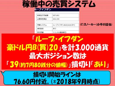 20180907ループイフダン売買システム豪ドル円ロング