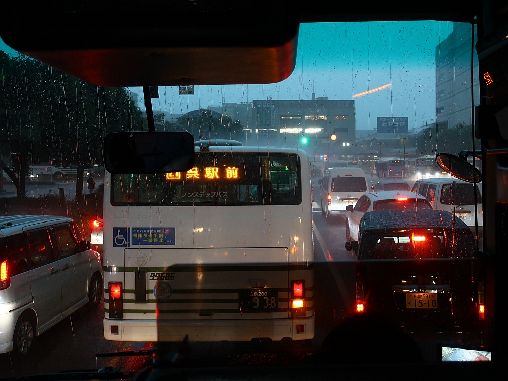 2018_09_07 西日本豪雨 坂-呉代行バス 呉-阿賀JR19