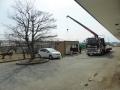施設南側、本格的な工事が開始しました