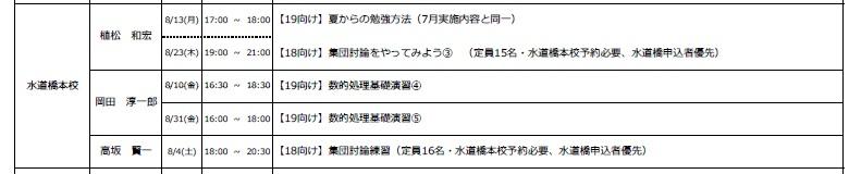 水道橋8月HR
