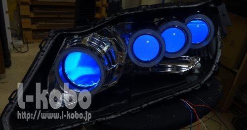 オデッセイRB3ヘッドライト加工