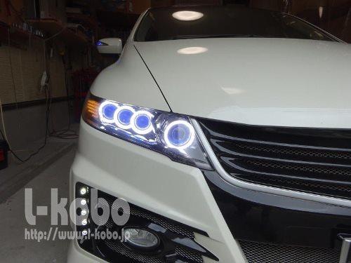 オデッセイRB3ヘッドライト加工4