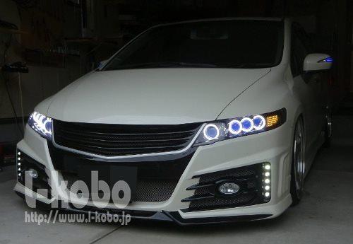 オデッセイRB3ヘッドライト加工1