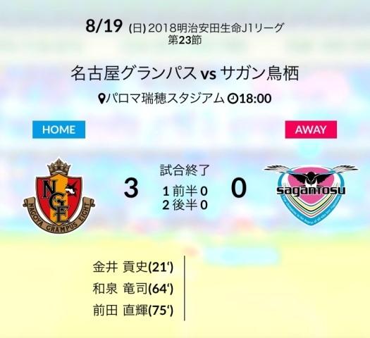 名古屋戦結果
