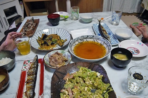 秋刀魚食べたです