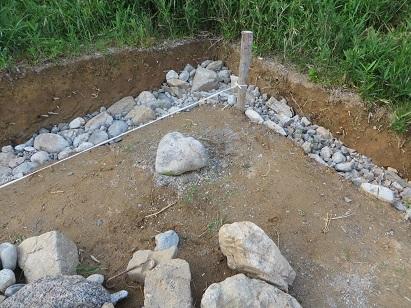 石詰め、セメント・1
