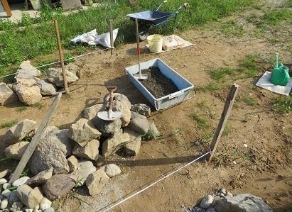 石詰め、セメント・2