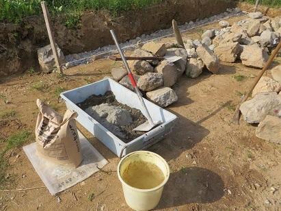 石詰め、セメント・3
