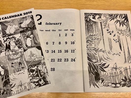 2018ムーミンカレンダー