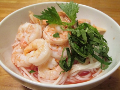 海老のトマト素麺1