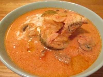 オニカサゴの豆乳トマトスープ2
