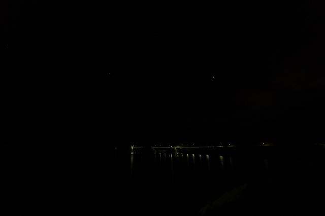伊良原ダムから見た夜景-1