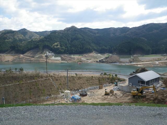 伊良原ダムの中で咲く桜-1