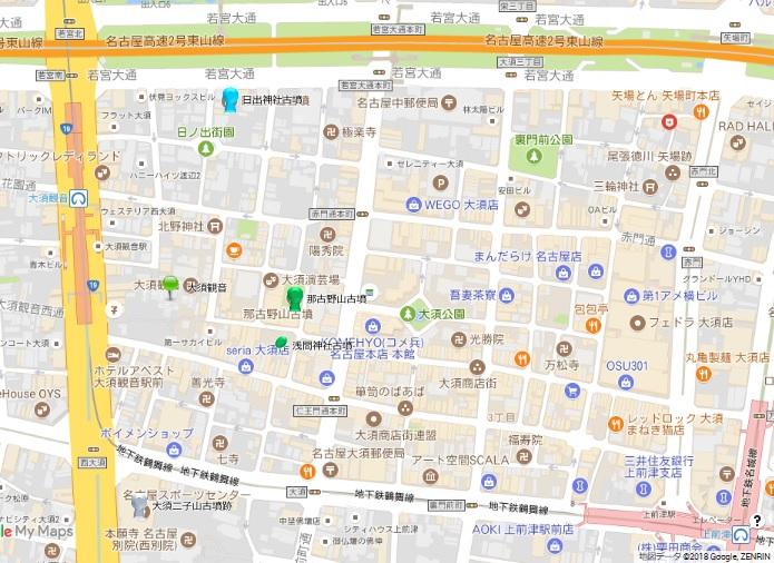 名古屋大須地図