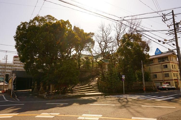 06 白山神社(古墳後円部)