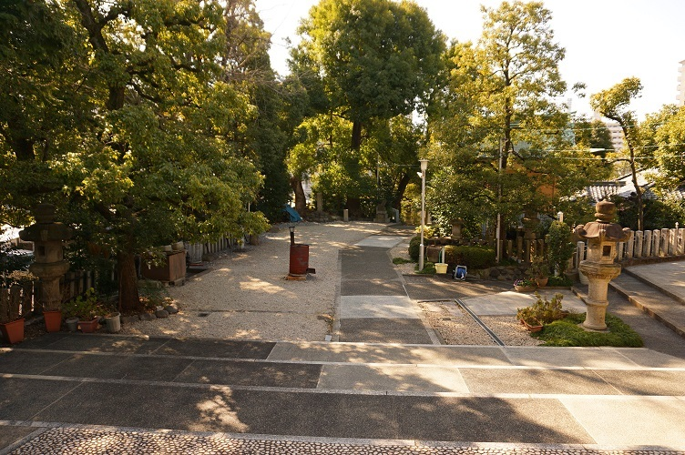 08 白山神社(後円部から前方部)