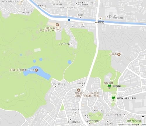 五所塚 地図
