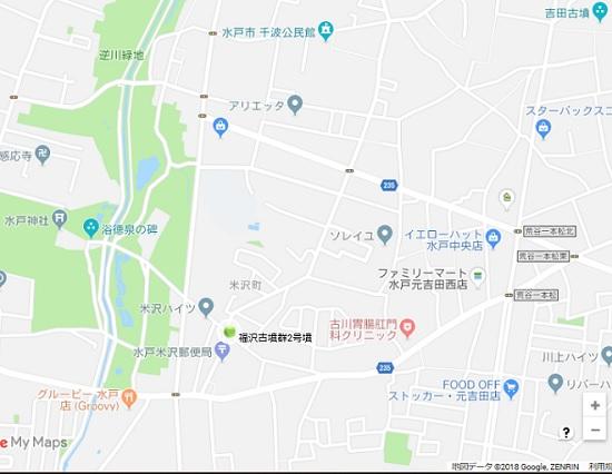 福沢古墳群2号墳地図