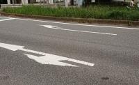 消えていない道路標示