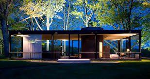 フィリップ ジョンソン作 ガラスの家
