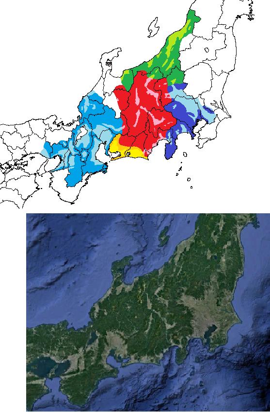 1575年 長篠の合戦当時勢力図 耕地
