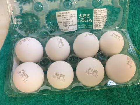 180825卵を常温にて
