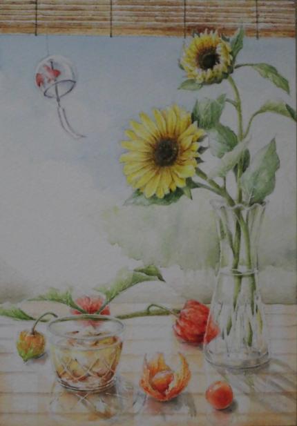 夏の縁側 1807