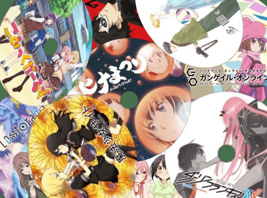 2018春アニメの録画保存BD・DVDラベルを自作しました。