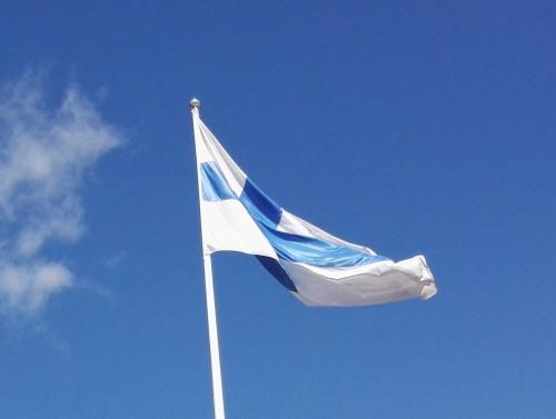 フィンランド 国旗 100歳 Suomenlippu Sinivalkoinen