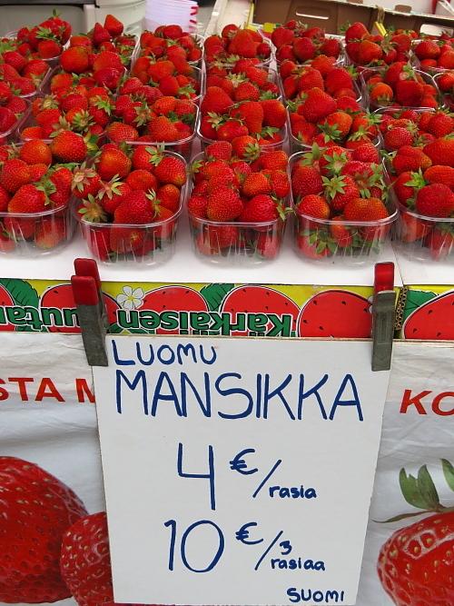 フィンランド Karkkila Tori Mansikka イチゴ