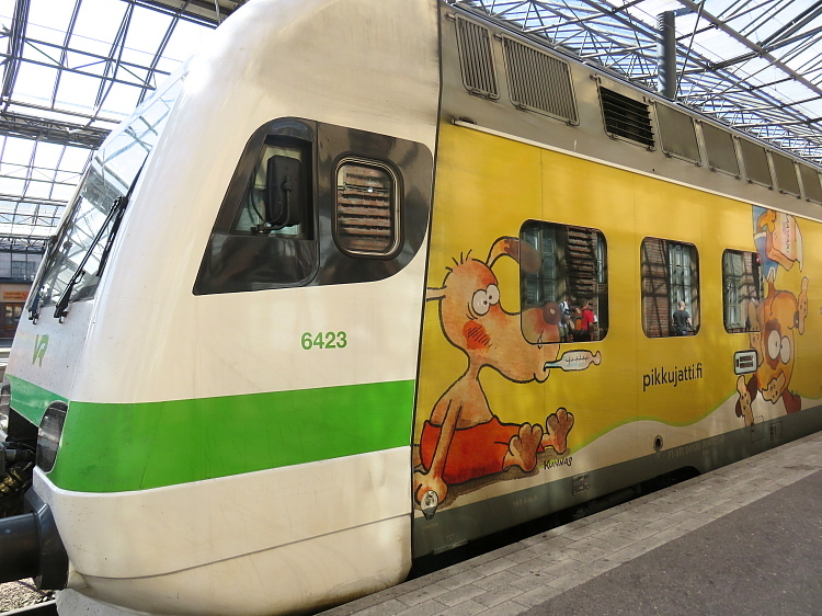 フィンランド 可愛い電車