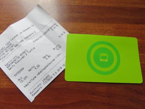 フィンランド ヘルシンキ トラム 電車 メトロ 乗車券