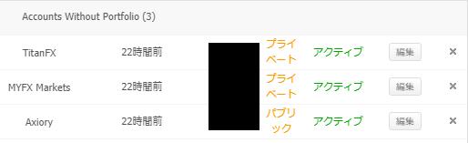 アカウント編集