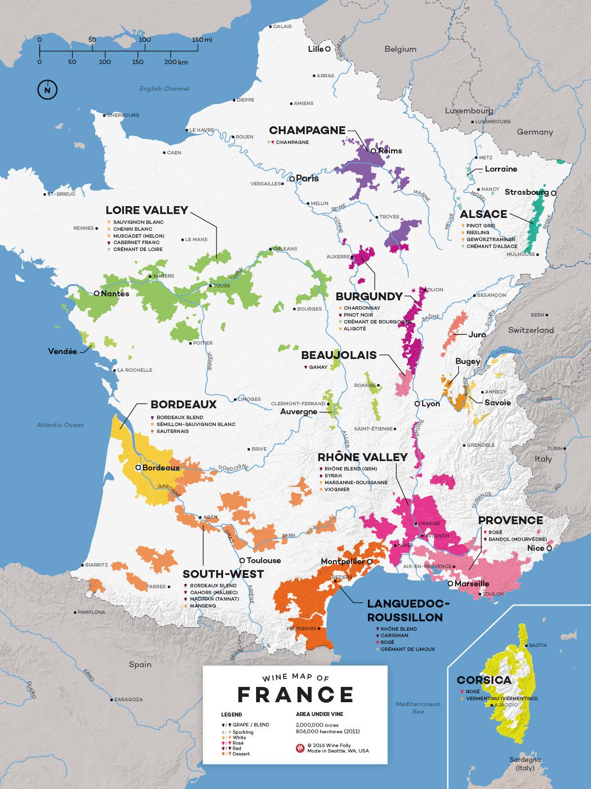 フランスワイン地図1