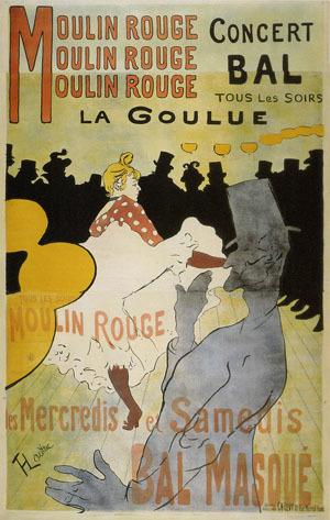 ロートレックムーランルージュのポスター
