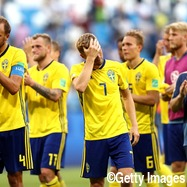 敗戦のスウェーデン代表