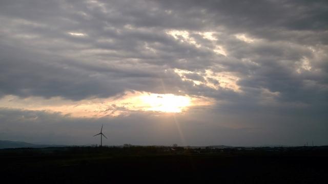 東雲台地の朝陽2018050500001