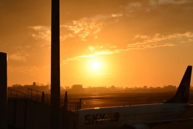 羽田空港夕陽20180800002