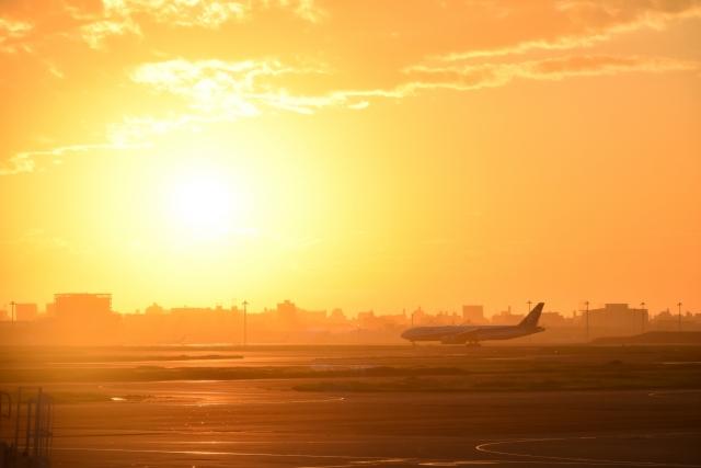 羽田空港夕陽20180800005