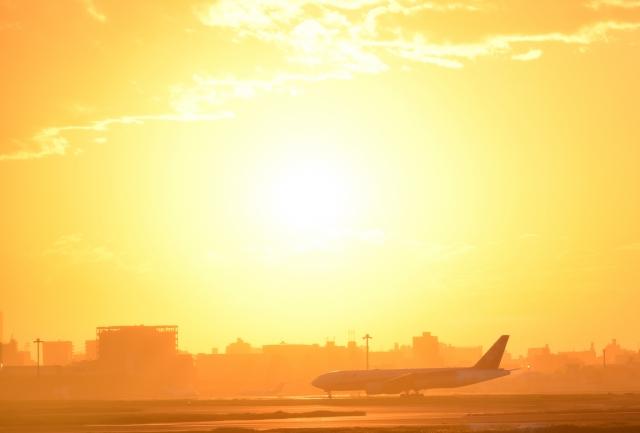 羽田空港夕陽20180800006