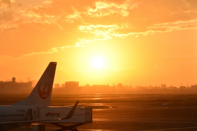 羽田空港夕陽20180800008