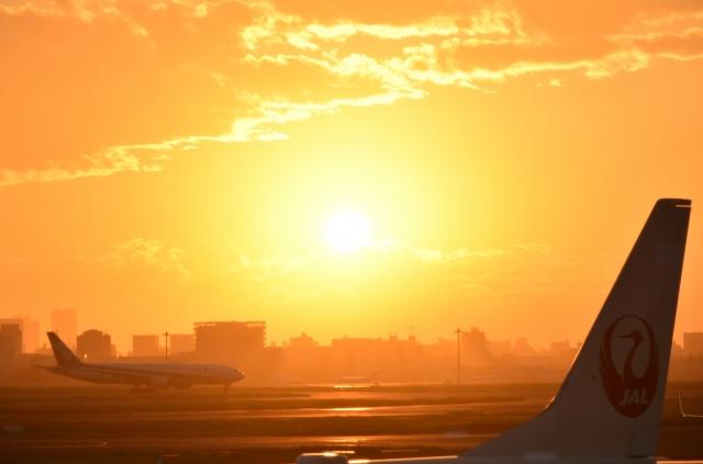 羽田空港夕陽20180800010
