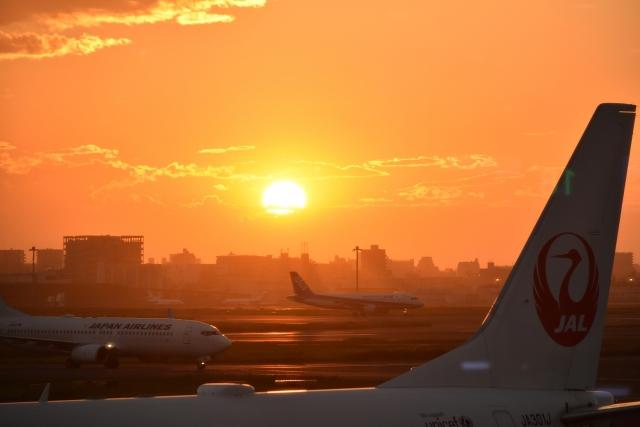 羽田空港夕陽20180800014