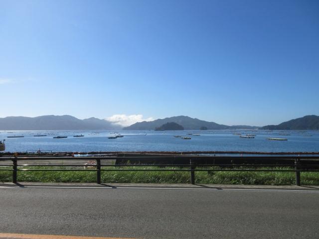 山田湾越しの重茂半島